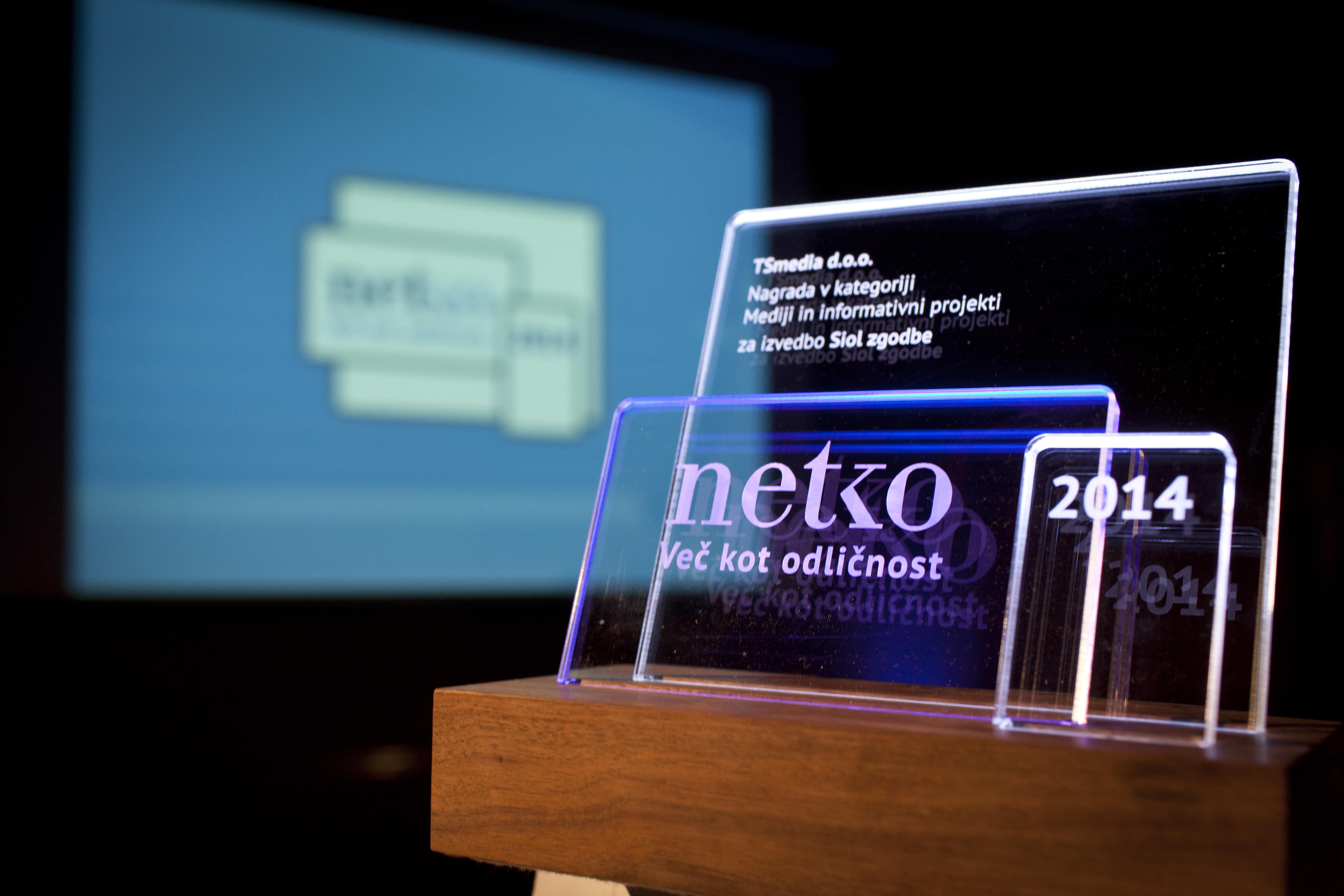 Podelitev nagrad NETKO.